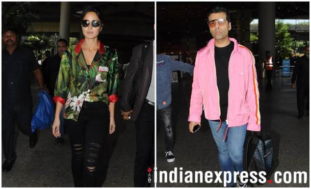 katrina kaif karan johar airport photo