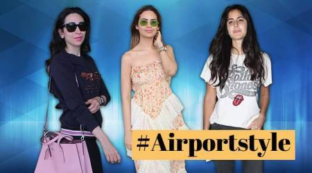 #Airportstyle: Katrina Kaif, Karisma Kapoor, Esha Gupta add a quirky twist to their travel style