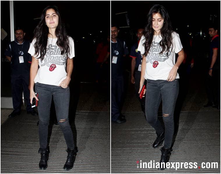 airport fashion, airport style, karan johar, anushka sharma, Karisma Kapoor, katrina kaif, esha gupta, athiya shetty, celeb fashion, bollywood fashion, indian express, indian express news