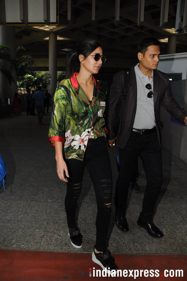 Katrina Kaif, Karan Johar, Celeb airport looks, Katrina kaif airport looks, karan johar fashion, celeb fashion, fashion tips, celeb fashion tips, lifestyle news, fashion tips, indian express, indian express news