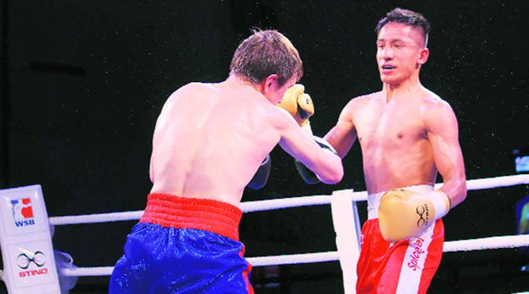Kavinder Bisht pens an impressive win over Russia's Saliev Rasul in WSB