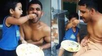 Video: This little taskmaster from Kerala insisting her father finish his food is ADORABLE