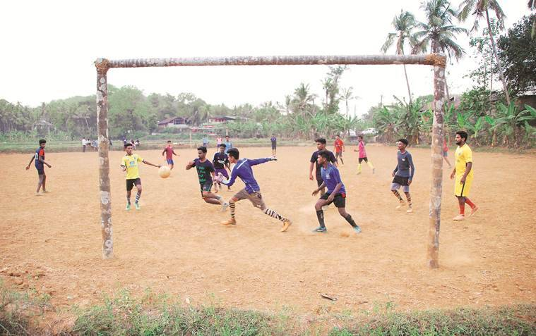 A football ground at Oravampuram near Pattikkad in Malappuram