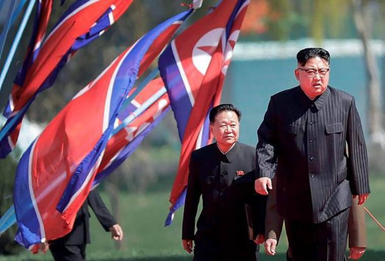 North Korean leader Kim Jong Un (right) and Choe Ryong Hae, vice-chairman of the central committee of the Workers' Party, in Pyongyang, North Korea. (AP/File)