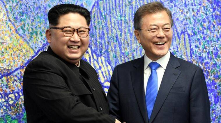north korea, south morea, kim jong un, moon jae in, inter korea summit, demilitarised zone, indian express