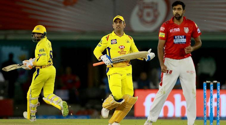 Ms Dhonis Unbeaten  Was Not Enough To Help Csk Secure A Win Against Kxip Source Ipl