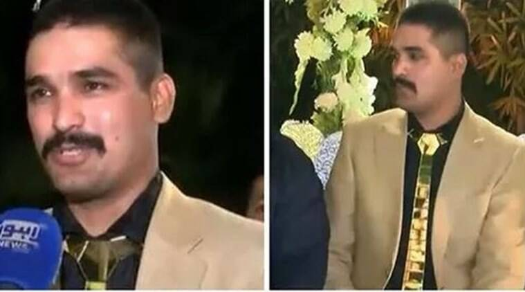 pakistan, lavish wedding, groom wore gold, expensive weddings, groom wear gold shoe, lahore groom gold tie shoe, viral photo, bizarre news, odd news, indian express