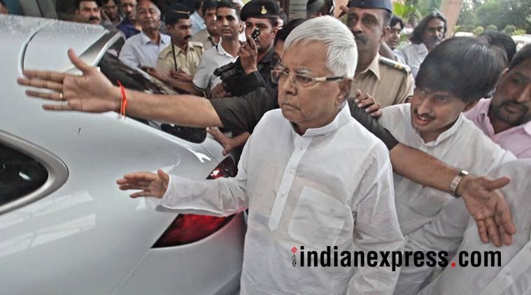 RJD president Lalu Prasad returned to Birsa Munda jail in Ranchi on Monday.
