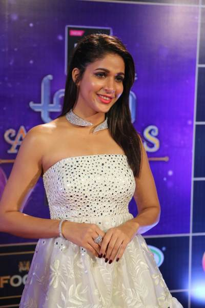 Lavanya Tripathi at the Zee Telugu Apsara Awards 2018.