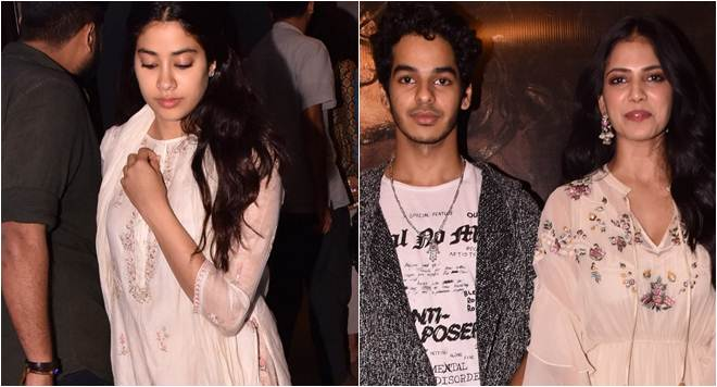 Janhvi Kapoor lends support to Ishaan Khatter at Beyond The Clouds screening