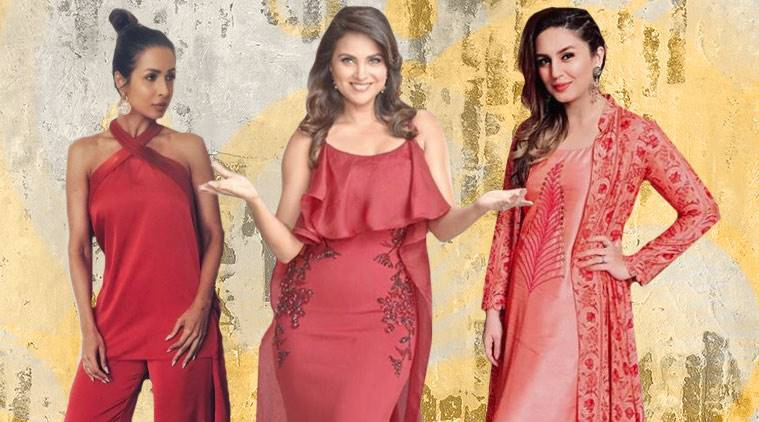 summer fashion, hot colours of summer, latest fashion in colour, coral colour outfits, Malaika Arora, Malaika Arora fashion, Malaika Arora coral colour outfits, Lara Dutta coral outfits, Lara Dutta fashion, Huma Qureshi latest photos, Malaika Arora fashion, indan express, indian express news