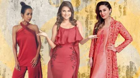 Is coral pink the latest on the fashion block? Malaika Arora, Huma Qureshi, Lara Dutta certainly think so