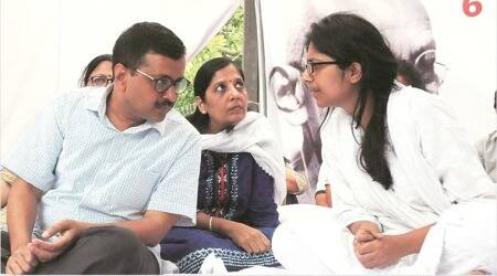 CM Arvind Kejriwal by her side, Maliwal says police trying to stop her fast