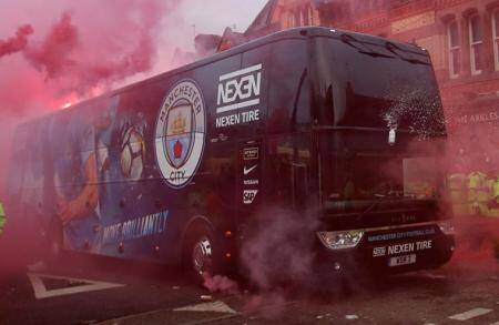 UEFA charge Liverpool after fans attack Manchester Citybus