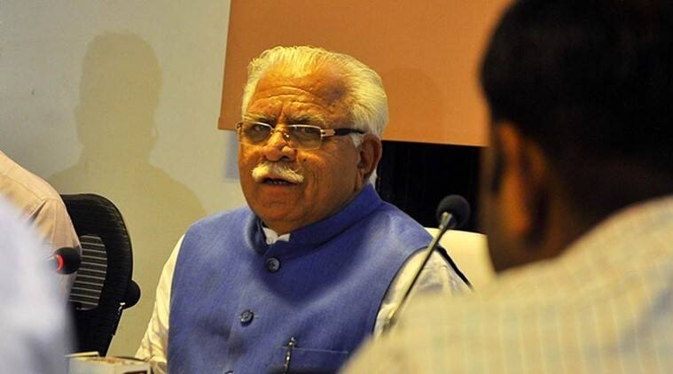 Haryana CM Manohar Lal Khattar (Express photo by Sahil Walia)