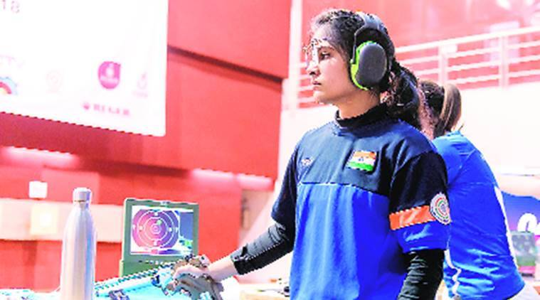 Manu Bhaker, Om Prakash Mitharwal, ISSF World Cup, ISSF World Cup result, sports news, Indian Express