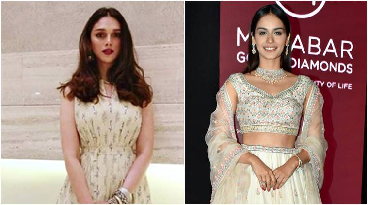 Manushi Chhillar, Aditi Rao Hydari, Anita Dongre, Manushi Chhillar fashion, Aditi Rao Hydari fashion, Manushi Chhillar style, Aditi Rao Hydari style, Manushi Chhillar latest photos, Aditi Rao Hydari latest photos, Manushi Chhillar latest news, Aditi Rao Hydari latest news, celeb fahsion, bollywood fashion, indian express, indian express news