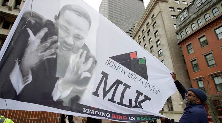 Martin Luther King's assassination eve speech read out loud in Boston