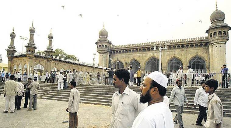 mecca masjid, 2007 mecca masjid blast, makkah masjid hyderabad, mecca masjid bombing, swami assemaband, national investigation agency, nia court, what is mecca masjid blast, mecca masjid blast verdict, mecca masjid blast 2007 latest news, indian express