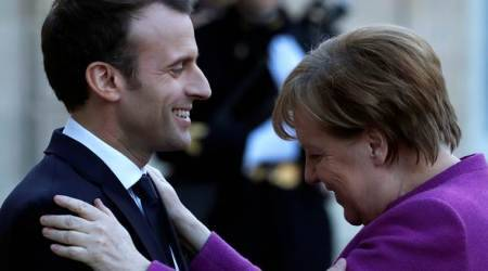 Angela Merkel, Emmanuel Macron meet to plot euro zone reform road map