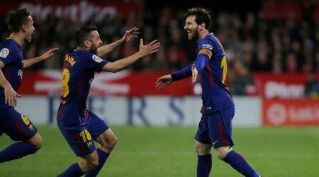 Lionel Messi rescues Barcelona with late equaliser at Sevilla