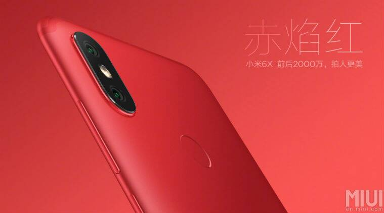 Mi 6X in Red coloured variant