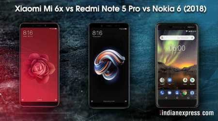Xiaomi Mi 6X vs Redmi Note 5 Pro vs Nokia 6 (2018): Difference in specifications