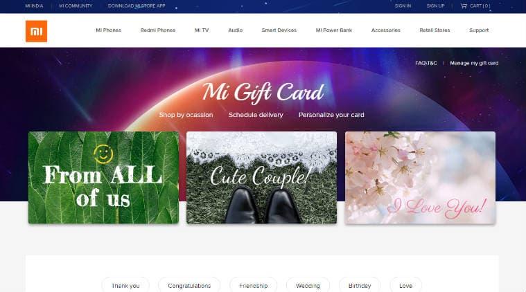 Mi Gift Card, Mi Gift Card India, Xiaomi Mi Gift Card, Mi Gift Card how to use, Mi Gift Card site, Xiaomi gift card, Xiaomi India