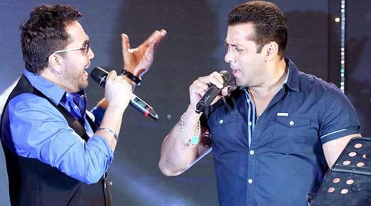 Mika Singh with Salman Khan
