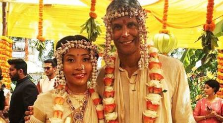 Milind Soman ties the knot with Ankita Konwar; see photos, videos