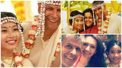 Milind Soman Ankita Konwar wedding photos