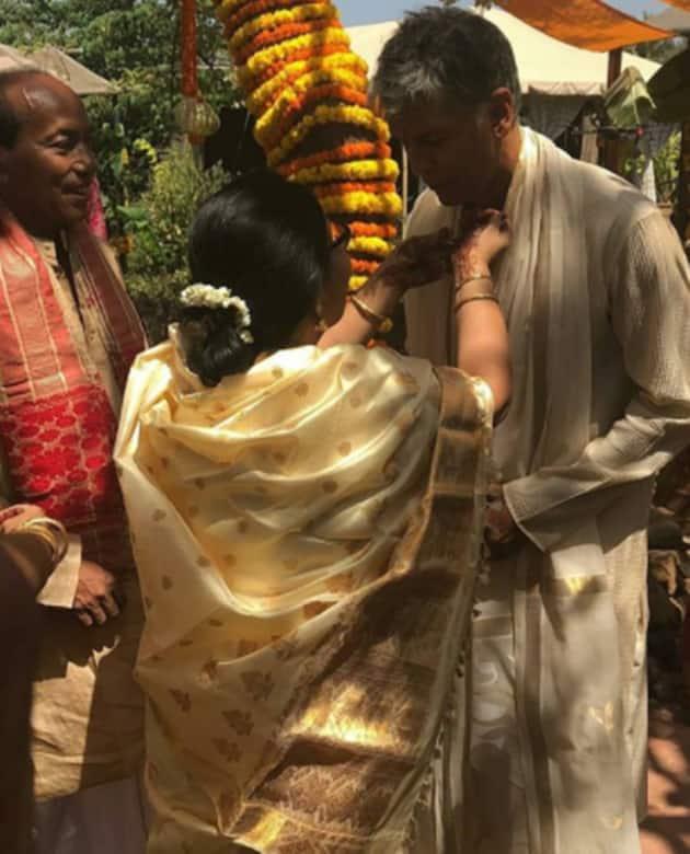 Ankita Konwar and Milind Soman's wedding
