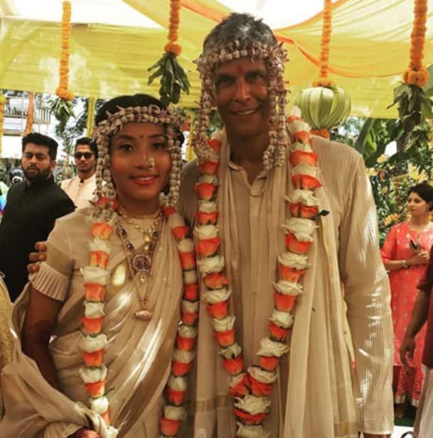 Milind Soman and Ankita Konwar's wedding