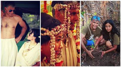 Milind Soman and Ankita Konwar share wedding photos