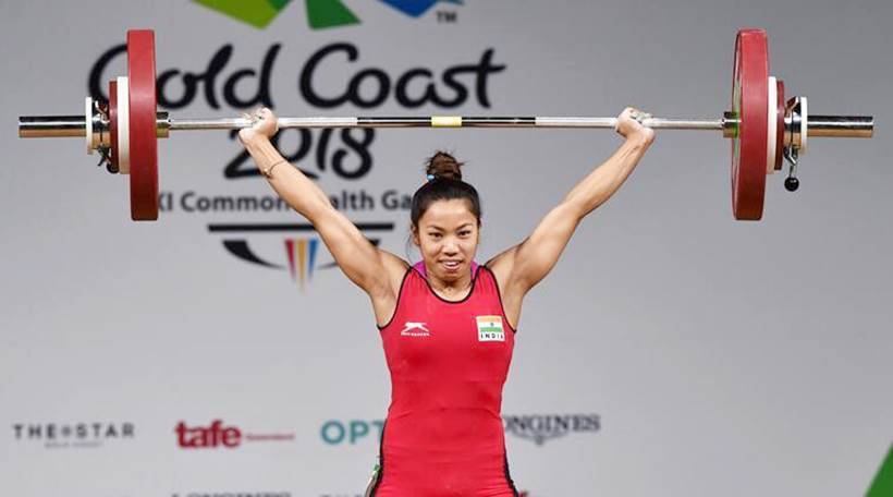 Mirabai Chanu in action on Day 1 of Commonwealth Games