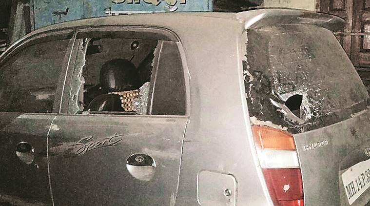 Around 30 parked vehicles damaged as mob goes on rampage