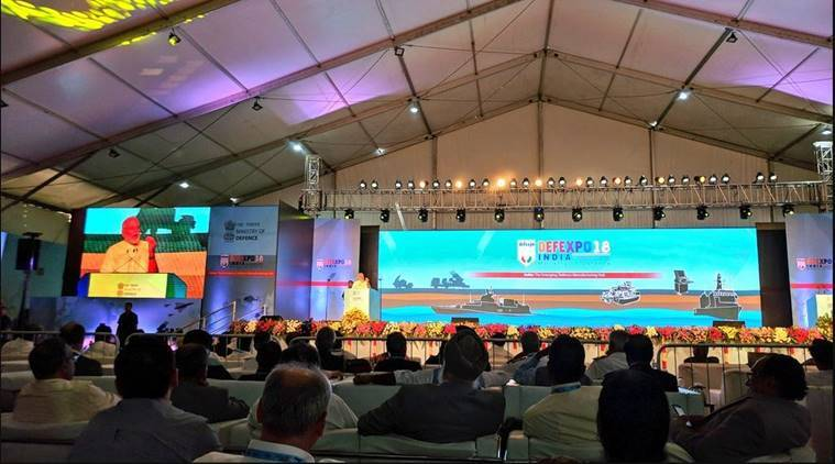 Narendra Modi at Def Expo 2018