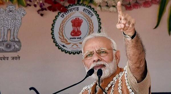 In Bastar, PM Modi invokes Ambedkar, appeals to Naxals to give up arms