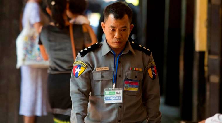 Myanmar jails police officer for testifying in favour of Reuters journalists