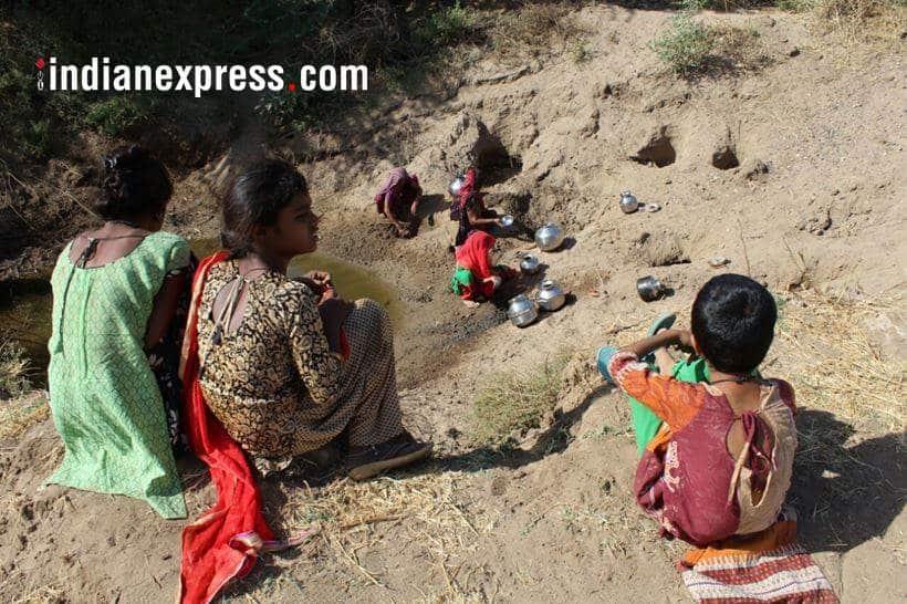 gujarat photos, water crisis images, gujarat draught pictures, morbi district photo, narmada shortage pics, sardar sarovar dam, indian express