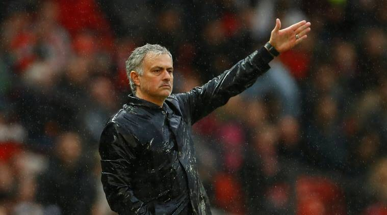 Manchester United manager Jose Mourinho gestures during the game against West Brom