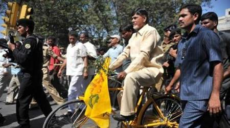 Andhra special status: CM Naidu leads cycle rally for cause, targets Centre for adopting 'divide and rule'policy