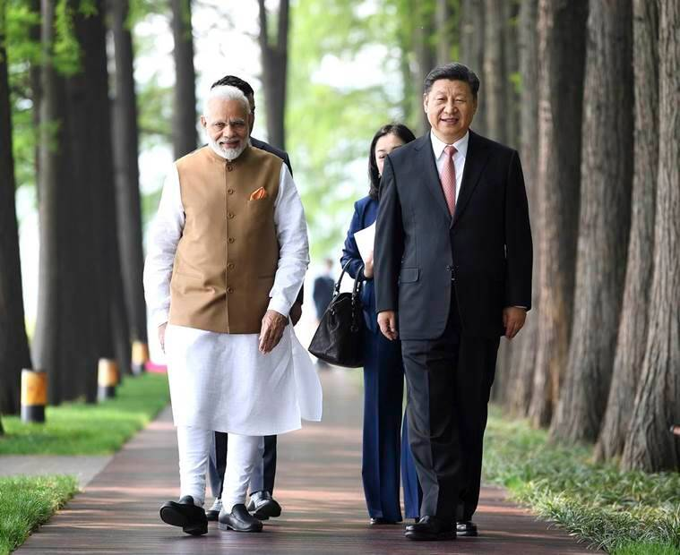 narendra modi, xi jinping, india-china relations, pm modi, pm modi in china, pm modi wuhan, indo-china ties, china, doklam row, india news, indian express