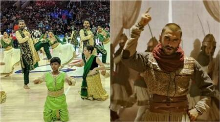 Video: Ranveer Singh's 'Malhari-Khalibali' dance's mash-up at NBA half-time is a hit
