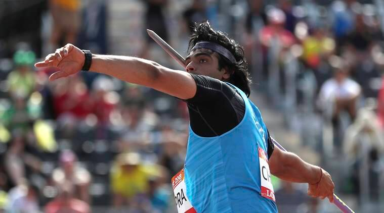 neeraj chopra javelin throw
