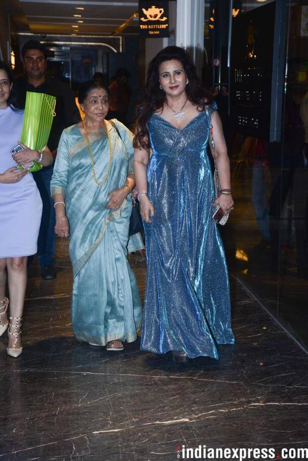 poonam dhillon with asha bhonsle