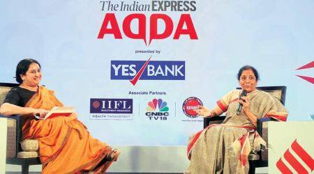 This govt has faced tonnes of questions, we're continuously put on test: Nirmala Sitharaman at Express Adda