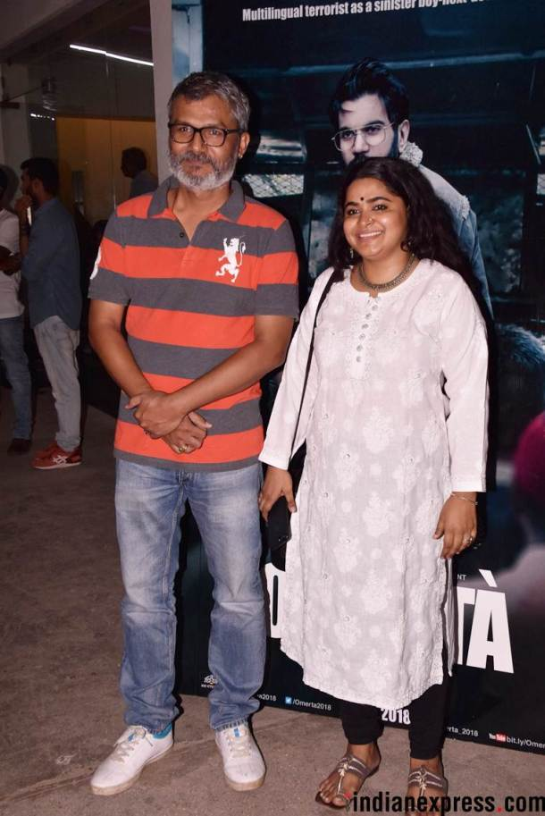 nitesh tiwari, ashwini iyer attend omerta screening