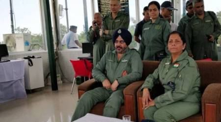 See video: Defence Minister Nirmala Sitharaman witnesses IAF exercise in northeastsector