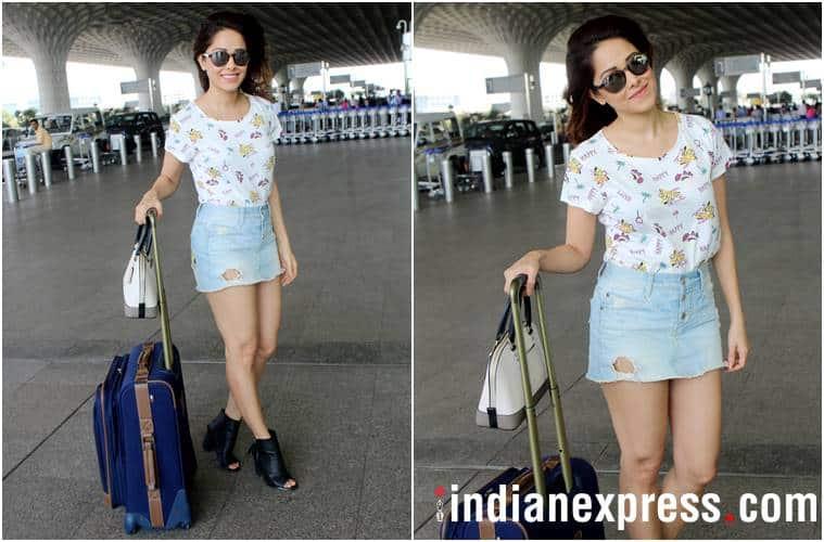 airport fashion, airport style, karan johar, anushka sharma, Karisma Kapoor, katrina kaif, esha gupta, athiya shetty, kiara advani, nushrat bharucha, celeb fashion, bollywood fashion, indian express, indian express news